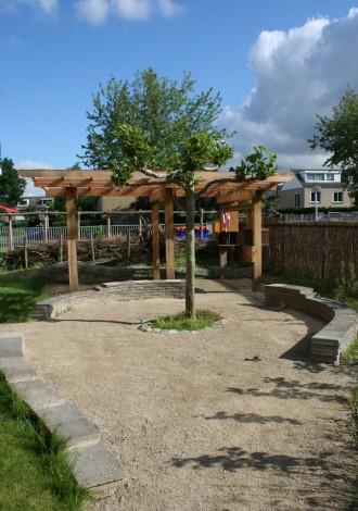 buiten-atelier bij kinderdagverblijf Suze Groeneweglaan Amstelveen