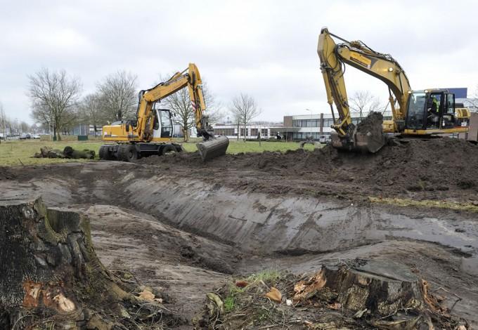 grondwerk bedrijventerrein Isselt Amersfoort